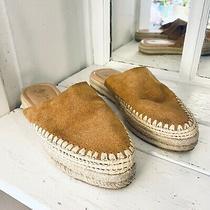 Sam Edelman Austin Camel Brown Suede Espadrilles Slides Mules Womens' Size 6 Photo