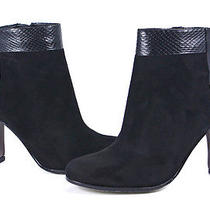Sam Edelman Black Leather Shay Ankle Boot Shoes 7 New Photo