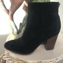 Sam Edelman Black Suede Ankle Boots Women Sz 8.5m Photo