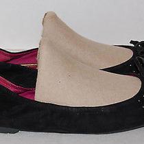 Sam Edelman Black Suede Ballet Flats Shoe Size 10 M Photo