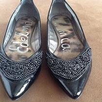 Sam Edelman Blk Pointy Leather Flats Size 61/2 Pre Owned Photo