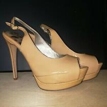 Sam Edelman Blush Nude High Heel Leather Peep Toe Shoes 6.5 Photo