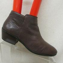 Sam Edelman Brown Leather Side Zip Fashion Ankle Boots Booties Size 8.5 M Petty  Photo