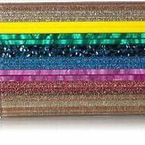 Sam Edelman Circus Auden Case Acrlic Rainbow Stripe Flap Crossbody Bag New Photo