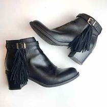 Sam Edelman Circus Black Leather Ankle Boots Size 8.5 Photo