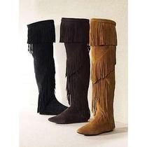 Sam Edelman Dark Brown Uri Boot - Thigh High Mocassins Photo