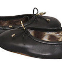 Sam Edelman Felicia Black Leather Ballet Slippers Flats Shoes 8.5 New Photo