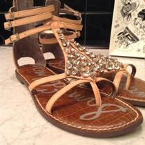 Sam Edelman Georgina Gladiator Sandals in Nude Blush and Spikes Size 8m Photo