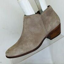 Sam Edelman Gray Suede Zip Ankle Fashion Boots Bootie Size 8 M Photo