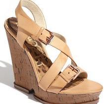 Sam Edelman Josie Ankle Strappy Cork Wedge Sandals Heels Size 10  New Espadrille Photo