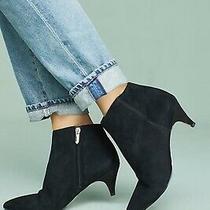 Sam Edelman Kinzey Black Suede Ankle Boots Size 7 Wide  New   Photo