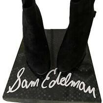 Sam Edelman Kourtney Booties Black Suede Size 7 Photo