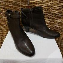 Sam Edelman Maddox Women's Us 10m Fashion Brown Leather Ankle Bootie Retail 140. Photo