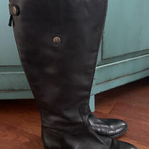 Sam Edelman Penny 2 Riding Boots Black Leather Women's 8.5 W Knee High Wide Ca Photo