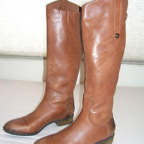 Sam Edelman Penny Whiskey Distressed Leather Campus Riding Tall Knee Boots 9 Photo