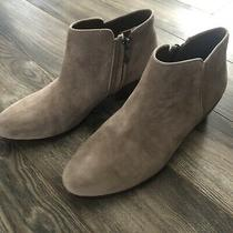 Sam Edelman Petty Ankle Bootie in Tan Puttie Suede Size 8.5 Preowned Photo