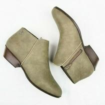 Sam Edelman Petty Ankle Booties Womens 5 Taupe Brown Side Zip Stacked Heel Boot Photo