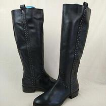 Sam Edelman Prina Black Studded Leather Knee High Riding Boot Womens Size 8 M Us Photo