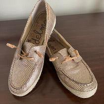 Sam Edelman Sabastian Gold Python Embossed Loafer Flats Boat Shoes 9.5m  Photo