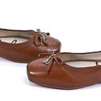 Sam Edelman Saddle Brown Leather Dominica Flats Ballet Slip on Shoes 8.5 New Photo