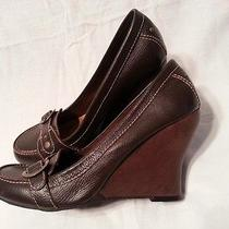 Sam Edelman Se Boutique Brown Wedge Size 8.5 M Leather Womens Photo