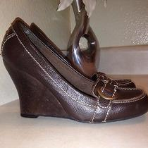 Sam Edelman See Boutique Brown Leather Shoes 6m Like New Photo
