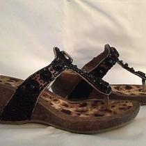 Sam Edelman Shoe Sandals Women Size 8 Black New Photo