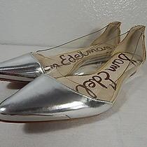 Sam Edelman - Size 6 M - Silver & Gold Leather Flats - Transparent Sides Photo