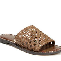 Sam Edelman Size 9 Genovia Brown Woven Leather Slide Sandal New in Box Photo