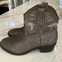 Sam Edelman Stevie Gunmetal Putty Cowboys Ankle Boots Size 8.5 Photo