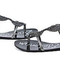 Sam Edelman Tyra Flat Sandal Gladiator Shoes Graphite 8 New Photo