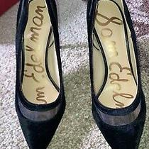 Sam Edelman Velvet Mesh and Hazel Heels Size 8.5 Photo