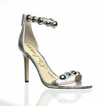 Sam Edelman Womens Addison Soft Silver Ankle Strap Heels Size 9.5 (672185) Photo