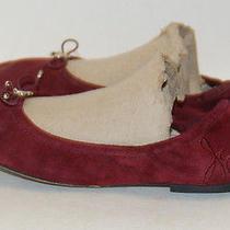 Sam Edelman Womens Burgundy Suede Flats Shoe Size 6.5 Photo