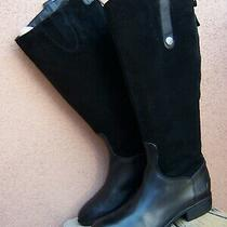 Sam Edelman Womens Knee High Fashion Boots Soft Black Leather Riding Sz Size 7m Photo