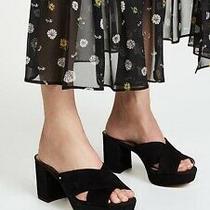Sam Edelman Womens Shoes Black Jayne Block Heels Platform Mules Wedge Size 8 Photo