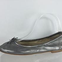 Sam Edelman Womens Silver Leather Flats 7 M Photo