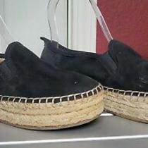 Sam Edelman Womens Size 5 Black Suede Loafers Carrin Espadrille Slip-on Sneaker Photo