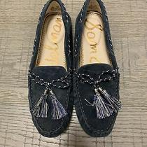 Sam Edelman Womens Size 8.5m Suede Fantine Tassel Moccasin Flats Sea Blue Photo