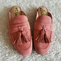 Sam Edelman Womens Size 8m Blush Pink Leather Tassel Slide on Paris Mules Photo