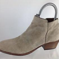 Sam Edelman Womens Stone Beige Leather Ankle Boots 7.5 M Photo
