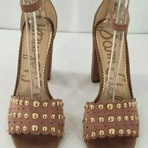 Sam Edelman - Yaria Dusty Rose Suede Studded Ankle Strap Sandal Size 9m Photo