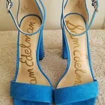 Sam Edelman Yaro Ankle Strap Sandal Us Size 6 Blue  Photo