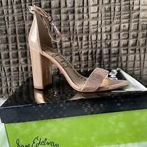 Sam Edelman Yaro Leather Block Heel Sandal Blush Gold Bnib Free Shipping 120 Photo