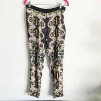 Sam & Lavi Colorful Thin Black Pattern Pants Medium Women's Photo