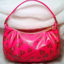 Samantha Thavasa by Nicky Hilton Pink Diamonds Hobo Handbag Purse Bag Paris Gold Photo