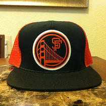 San Francisco Giants Snapback Hat Trucker Fishnet Vintage American Needle Photo