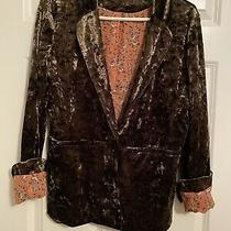 Sanctuary Army Green (Crushed Velvet Style) Jacket/blazer Women's Size Small Photo