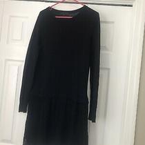 Sanctuary Black Sweater Dress W/ Lace Size Xs Photo