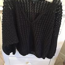 Sanctuary Blouse Size Small S Black and Fun Photo
